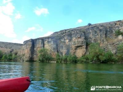 Piragüismo Hoces del Río Duratón,canoas; maderuelo aldeas abandonadas